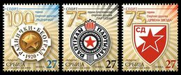 Serbia 2020. Anniversary Sports Association Red Star Partizan Radnicki, Soccer, Volleyball, Basketball, MNH - Tauchen
