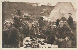 NORVEGE Norge Lot De 2 Cartes Lappeleir Lapons Carte Photo CPA  TBE Vers 1913 - Norway