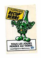 Autocollant Campagne Récup'verre Conseil Régional De Midi-Pyrénées - Format : 15x10 Cm - Stickers
