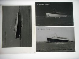 LE HAVRE LE PAQUEBOT FRANCE  NEGATIF SUR PLAQUE DE VERRE + POSITIF SOUPLE + CPSM Format 9/14 Cms - Steamers