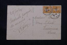 ALGÉRIE - Affranchissement Semeuses De Oran Sur Carte Postale En 1924 Pour Vincennes - L 71761 - Lettres & Documents