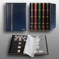 Prophila Leuchtturm 60 Schwarze Seiten Briefmarkenalbum Einsteckbuch Wattierter Blauer Einband - Enkel Bindwerk