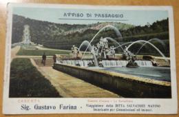M322  CARTOLINA Di CASERTA  NON VIAGGIATA PUBBLICITARIA DITTA SALVATORE MARINO - Caserta