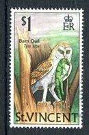 St Vincent 1970-71 Birds - 1st Wmk. - $1 Barn Owl Used (SG 298) - St.Vincent (...-1979)