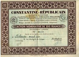 CONSTANTINE - REPUBLICAIN - Afrique