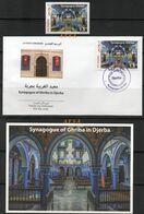 (FDC+Postcard+1value) The Synagogue Of Ghriba In Djerba  // (fdc+cp+1valeur )la Synagogue De La Ghriba à Jerba - Tunesië (1956-...)