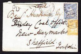 1868 Incoming Mail. 4 Briefe Nach Sheffield. 2 Aus Der Schweiz, 1x Aus Paris Und 1x Aus Beverley Mit - 1840-1901 (Regina Victoria)