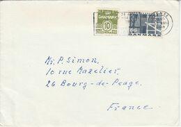 DANEMARK LETTRE POUR LA FRANCE 1968 - Lettere