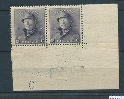 N°169A  MNH.EN PAIRE COIN DE FEUILLE ET DEPOT 1919 - 1919-1920 Roi Casqué