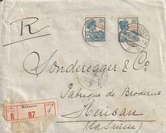 Indes Neerlandaises Lettre Recommandée Makasser Pour La Suisse 1928 - Indie Olandesi