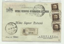 PERUGIA - OSPEDALE PSICHIATRICO INTERPROVINCIALE  DELL'UMBRIA 1933 VIAGGIATA FP - Perugia