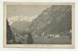 GRESSONEY ST. JEAN - PANORAMA VIAGGIATA 1919  FP - Otras Ciudades