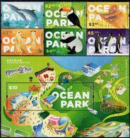 Hong Kong - 2020 - Ocean Park - Mint Stamp Set + Souvenir Sheet - 1997-... Chinese Admnistrative Region