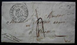 Lurcy (Nièvre) Cursive 56/ Lurcy 1834 Cachet De Saint-Pierre Le Moûtier Sur Lettre Pour Riom - 1801-1848: Precursori XIX