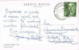 37565. Postal CAPELLADES (Barcelona) 1965. Vista Piscina Azul - 1931-Aujourd'hui: II. République - ....Juan Carlos I