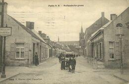 Nederland, PUTTE, Hollandsche Grens, Straat Met Volk (1915) Ansichtkaart - Paesi Bassi