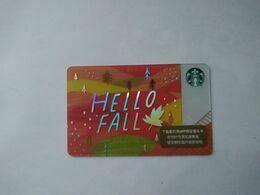 China Gift Cards, Starbucks, 100 RMB, 2020 (1pcs) - Cartes Cadeaux