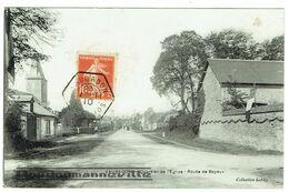 CPA - 14 - VAUBADON - Quartier De L'Eglise - Route De Bayeux - Frankreich
