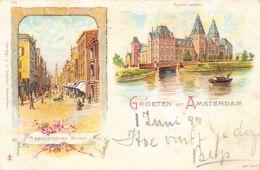 Amsterdam (NH) Litho - Reguliersbree Straat - Rijkmuseum - Amsterdam