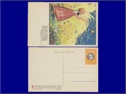 Paludisme - Année: 1935 - FINLANDE,CP POLYCHROME (N) 1,25+150MK,(TEXTE FINNOIS)Petite Fille & Papillon*. - Unclassified