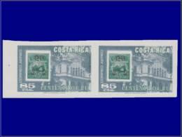 U.P.U. - Année: 1975 - COSTA RICA,YV. PA 647,XX,PAIRE HORIZONTALE NON DENT:Upu - U.P.U.