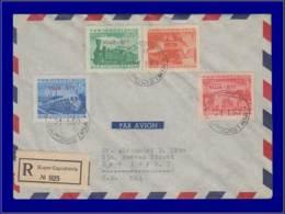 Téléphériques - Année: 1949 - TRIESTE B,YV. 17/20,ENV. REC. 21/1/49:100° Chemin De Fer(MIC. = 300 DM). - Trenes