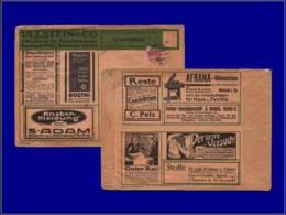 Textile - Année: 1911 - ALLEMAGNE,ENV. ANNONCES (TIMBRE PERFORE) ULLSTEIN & CIEBERLIN:Machine* à Coudre,étoffes*,soie,be - Textiles