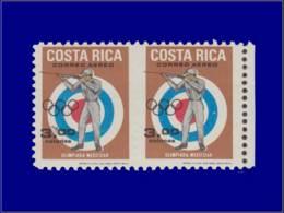 Sports De Tir - Année: 1969 - COSTA RICA,YV. PA 478,XX,PAIRE NON DENTELEE ENTREVERTICALEMENT:Tir*,JO Mexico. - Sin Clasificación