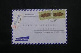 GRECE - Enveloppe En Recommandé De Athènes Pour Djibouti En 1969 - L 71809 - Briefe U. Dokumente