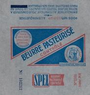 Etiquette Fromage Feuille Papier Emballage Beurre SPEL Coopérative Agricole Centrale Laitière D'Auvergne 250g - Formaggio