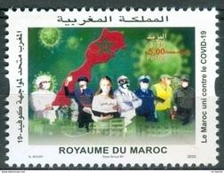 Maroc / Morocco - Timbre 2020 Unis Contre COVID-19 Corna Virus - Neuf** - Morocco (1956-...)