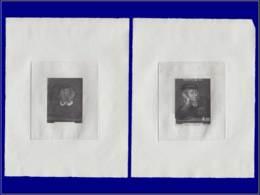 L. De Vinci - Année: 1983 - MONACO,YV. 1391,2 EPA EN NOIR,(1 NEGATIF):Jeune Homme*de Raphael. - Sin Clasificación