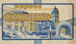 Ancienne Etiquette Fromage Feuille Papier Emballage Beurre Providence Des Trappistes De Briquebec Manche 50 250g - Formaggio