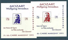 Blocs Marigny 1991   Wolfgang Amadeus MOZART - Andere