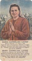 Santino Fustellato Maria Carmelina Leone - Devotieprenten