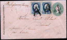Etats Unis, Entier Avec Complément D'affranchissement. 1879 Pour La Belgique, Obliteration De Fortune - Unclassified