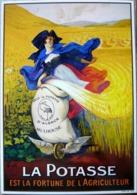 LA POTASSE FORTUNE DE L'AGRICULTEUR ALSACE PAR MARCELLIN AUZOLLE COLL LES PUBLICITES ANCIENNES REPRODUCTION - Advertising