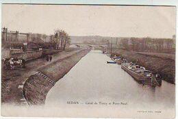 08. SEDAN . CANAL DE TORCY ET PONT NEUF . CHEVAUX . PENICHES . Editeur SAUVAGE - Sedan