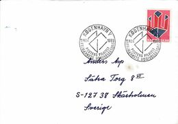 DANEMARK LETTRE POUR LA SUEDE 1969 - 1913-47 (Christian X)
