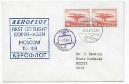 1957 - DANMARK - ENVELOPPE 1° LIAISON AERIENNE AEROFLOT De COPENHAGEN => MOSCOU - Airmail