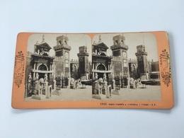 1890 1900 Ancienne Carte Stéréoscopique 3007 Porte D'entrée à L'Arsenal à VENISE VENEZIA Vues D'Italie B.K. Paris - Ohne Zuordnung