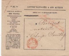 """Oblit. - Cachet """"Service Des Contre-Seings Paris"""" En 1865 - Griffe Ministre Des Finances - Directeur Général Des Postes - Marcofilia (sobres)"""