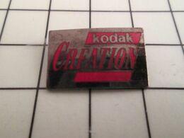715c Pins Pin's / Rare & Belle Qualité THEME PHOTOGRAPHIE / KODAK CREATION - Photography