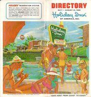 DIRECTORY - HOLIDAY INN OF AMERICA, INC. (Your Host From Coast To Coast) - 1966 - Esplorazioni/Viaggi