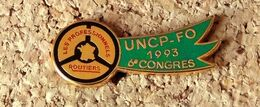 Pin's ROUTIERS - 6° Congrès 1993 UNCP-FO Vert - Syndicats - émaillé à Froid époxy - Fabricant FOURNIER - Other