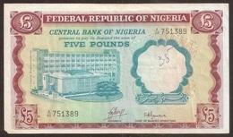 NIGERIA. 5 Pounds 1968 Pick 13 B. - Nigeria