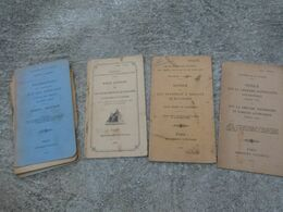 Lot De 4 Manuel INSTRUCTION SUR LES GRENADES Tromblon VB édition 1922 Grenade Incendiaire Et Artifices - 1914-18