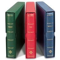 LEUCHTTURM Drehstabbinder PERFECT Prägung ÖSTERREICH, Inkl. Schutzkassette Grün - Stockbooks