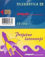 SLOVENIA(chip) -  Summer, Prijetno Letovanje, Impulz Telecard 50 Units, Tirage 15000, 06/99, Used - Slovenia