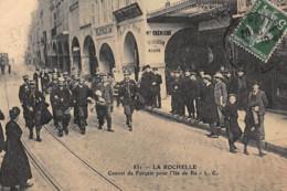 LA ROCHELLE : Convoi De Forcatspour L'ile De Ré - Tres Bon Etat - La Rochelle